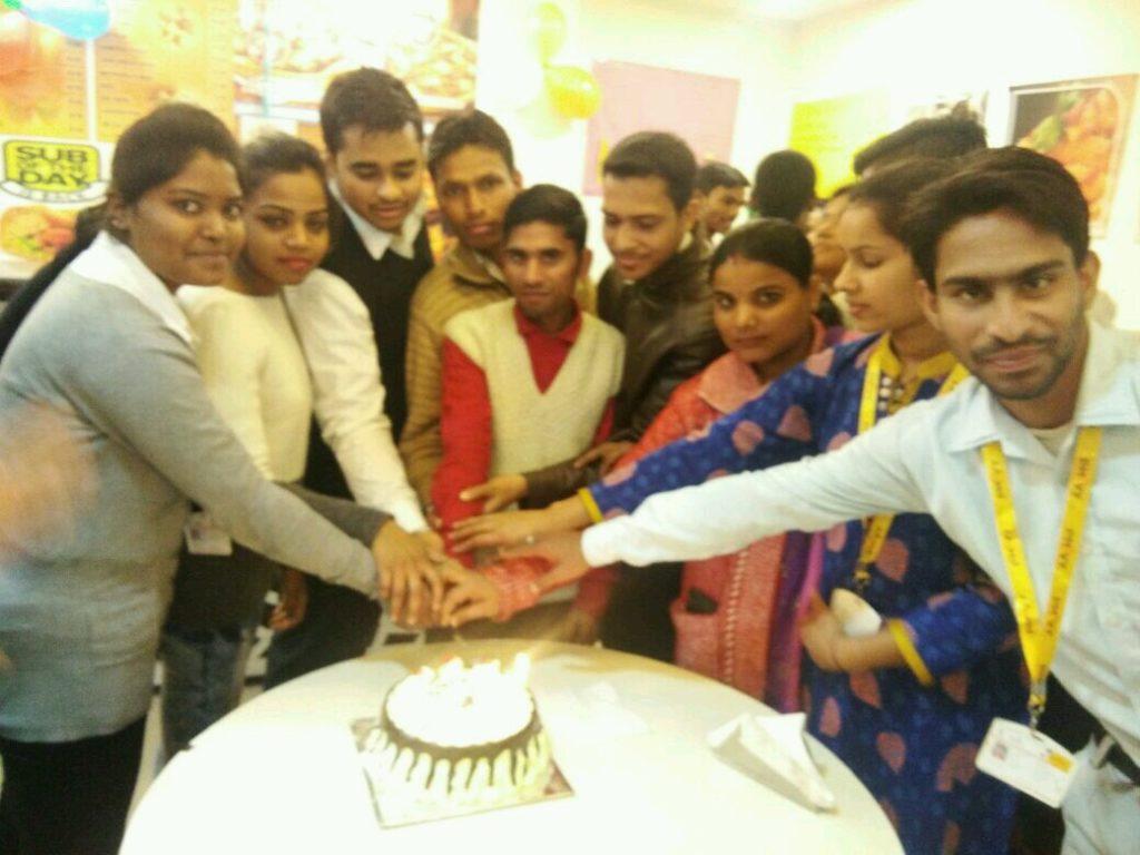 Celebrating January Born Students Birthday.