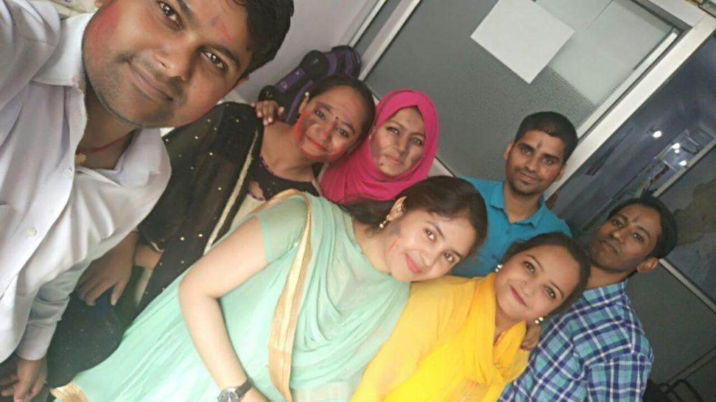 Holi celebration at Jamia Center